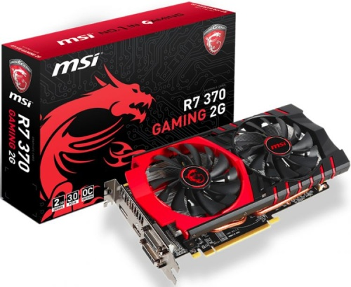 Видеокарта PCI-E MSI R7 370 GAMING 2G