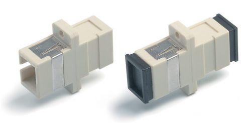 SC-SC-MM Адаптер проходной (для многомодового кабеля), simplex, (слоновая...
