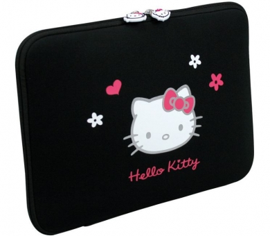 Сумка для ноутбука PORT Designs Hello Kitty Skin (HKNE13BL) Black Flowers.
