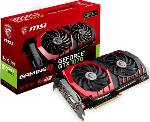 Видеокарта PCI-E MSI GTX 1070 GAMING X 8G