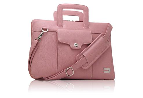 """Портфель кожаный Urbano Compact Brief для MacBook 13 """" - pink (розовый)"""